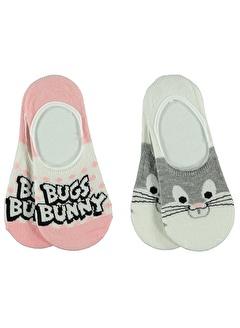 BUGS BUNNY Bugs Bunny Kız Çocuk 2'li Babet Çorap 3-11 Yaş Gri Bugs Bunny Kız Çocuk 2'li Babet Çorap 3-11 Yaş Gri